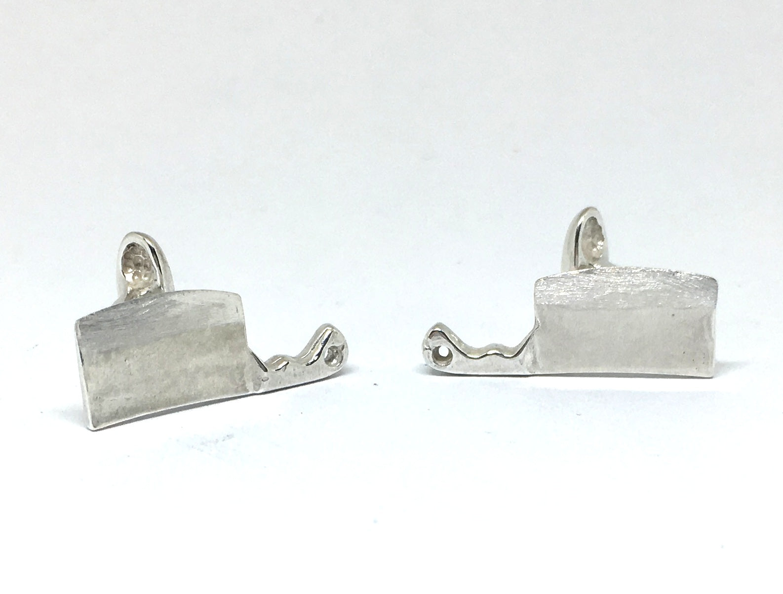 Sterling Silver Cleaver Cuff Links