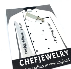 Chef Cleaver Knife Pin/Tie Tac in Sterling Silver