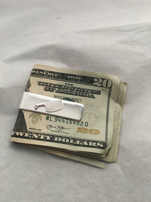 Chef's Sterling Silver Money Clip with Cleaver Knife