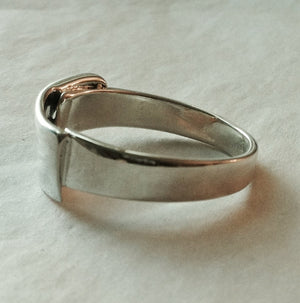 Chef's Cleaver Knife Ring in Sterling Silver