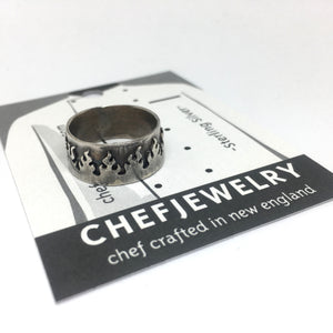 Fire Ring in Sterling Silver