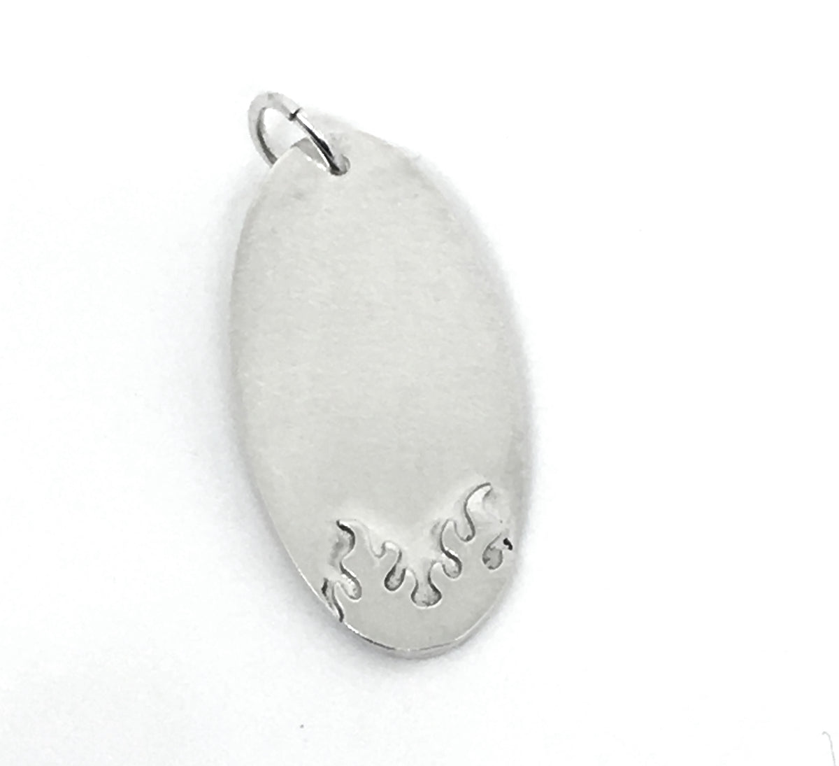 Personalized Flame Pendant in Sterling Silver