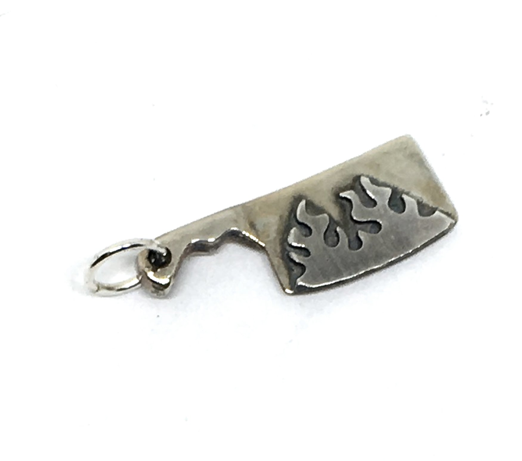 this cleaver charm can be added to a charm bracelet or slipped onto a chaim