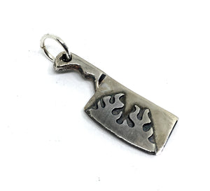 cleaver pendant with fire