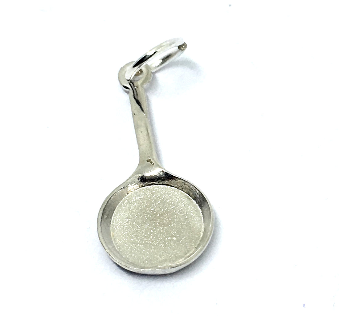 French Frying Pan Charm in Sterling Silver