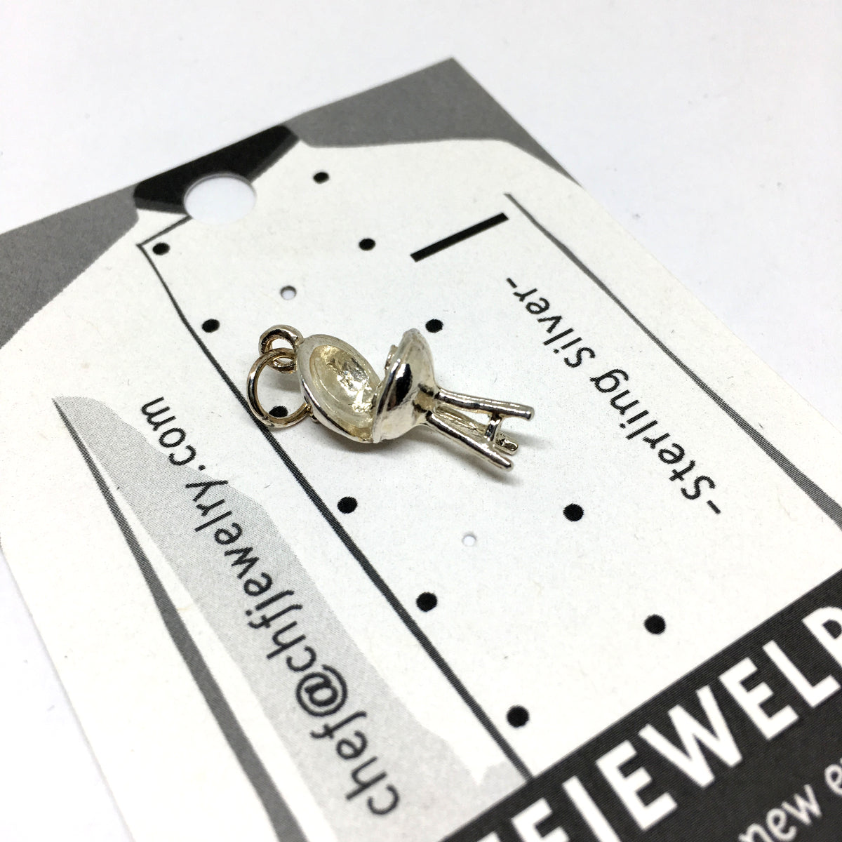 BBQ Grill Charm in Sterling Silver