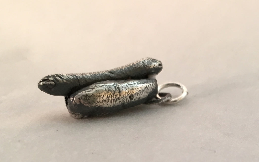 Sterling Silver Hot Dog Charm