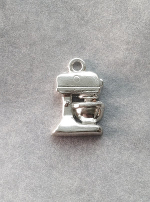 Baker's Standing Mixer Charm in Sterling Silver