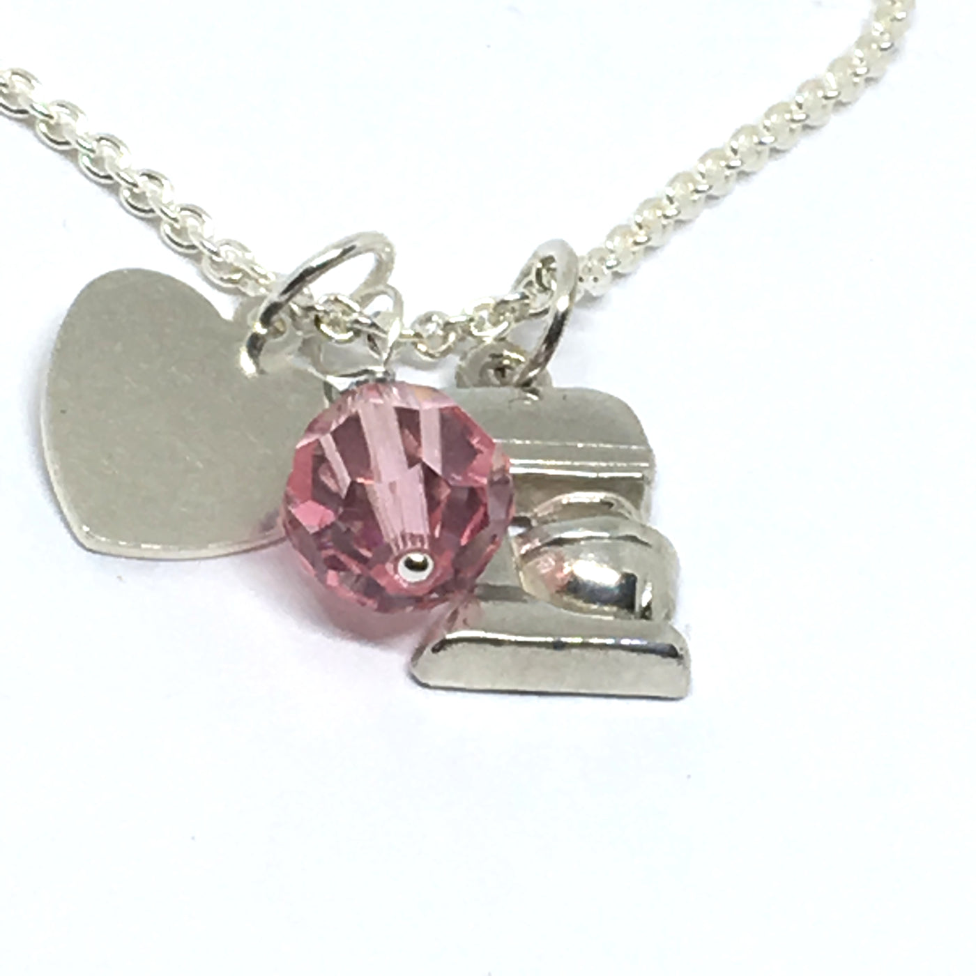 Chef Necklace with Pink Crystal