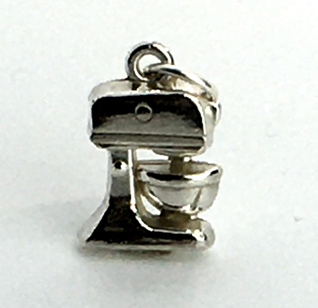 sterling silver mixer charm