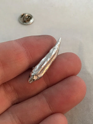 Okra Pin in Sterling Silver