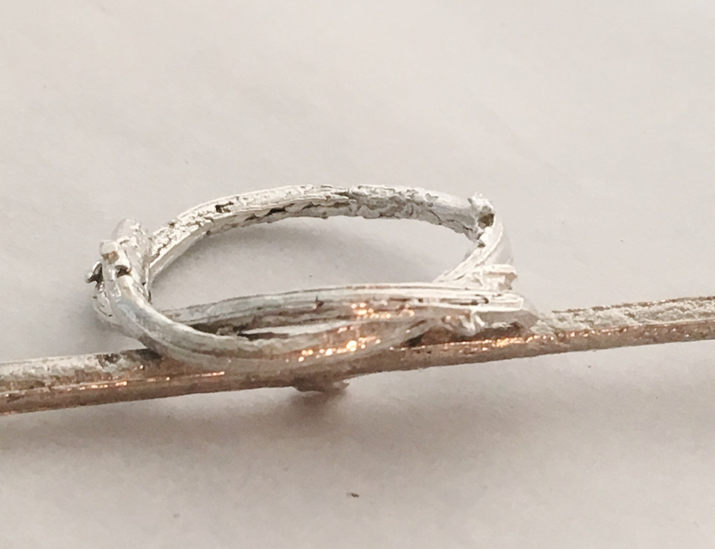 Natural Olive Twig Ring in Sterling Silver