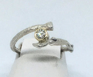 olive twig promise or engagement ring