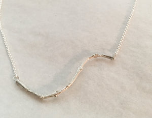 Olive Twig Necklace in Sterling Silver