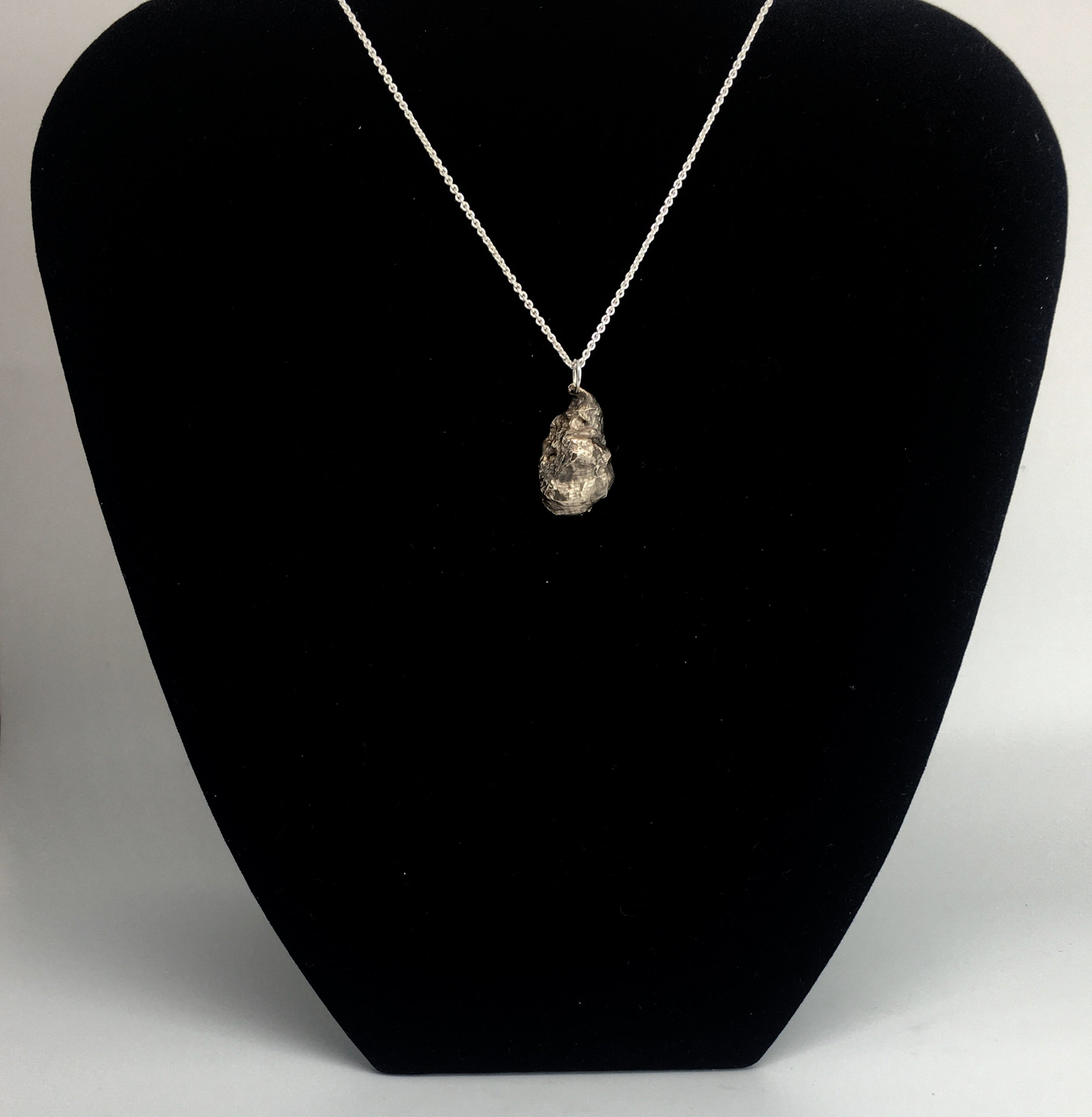 Sterling Silver Oyster Shell Pendant Necklace
