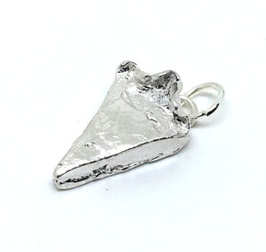 Pie Pendant Necklace in Sterling Silver