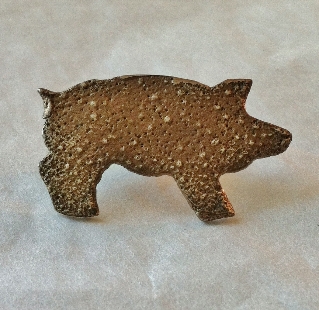 Pig Pin in Bronze
