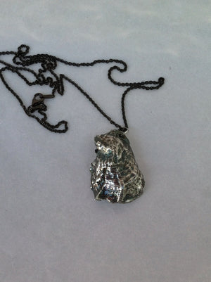 Oyster Shell Pendant Necklace in Sterling Silver