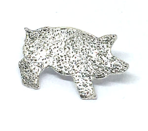Sterling Silver Pig Pin