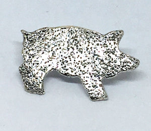 chefjewelry sterling silver pig pin