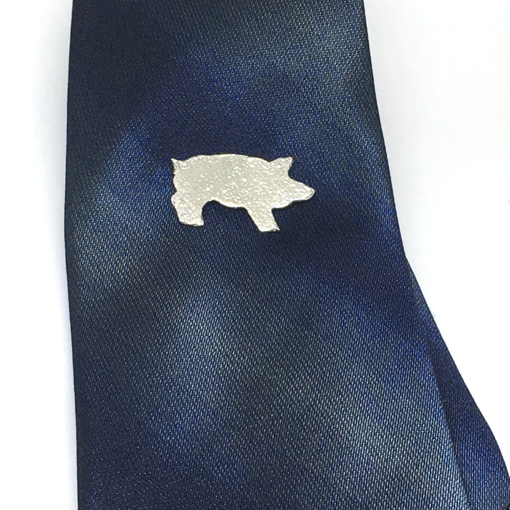 The pig pin is great as a tie tack