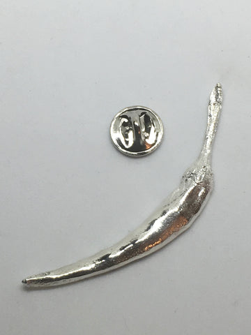 Sterling Silver Chili Pepper Pin