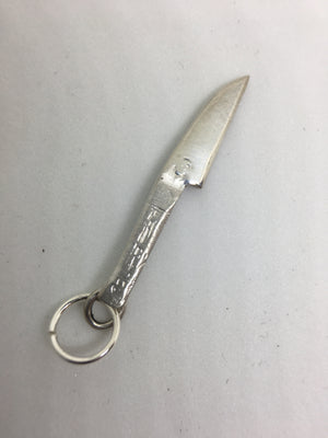 sterling sushi knife charm with jump ring