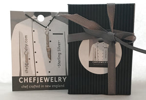your charm will arrive in custom chefjewelry packaging