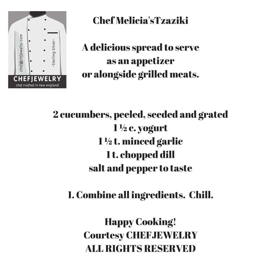 Chef Melicia's Tzaziki Recipe