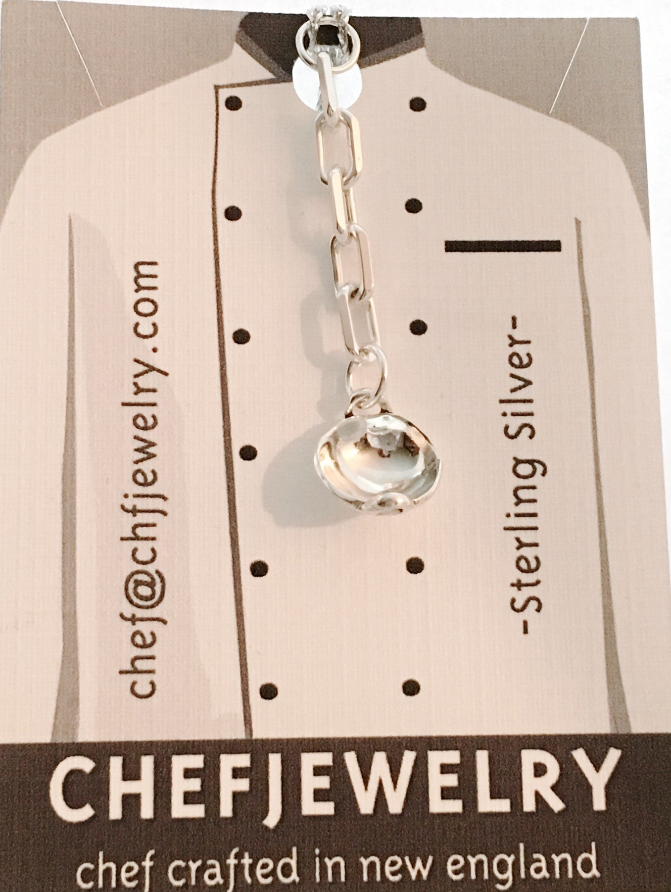 Chinese Wok Key Chain Charm in Sterling Silver