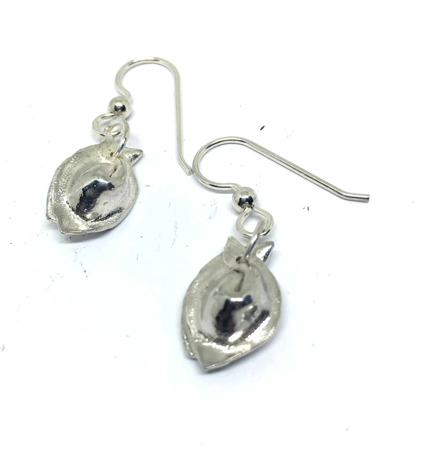 Wonton Dumpling Dangle Earrings in Sterling Silver