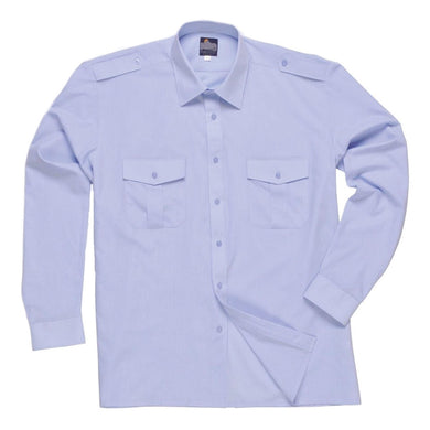 Portwest Long Sleeved Pilot Shirt Blue