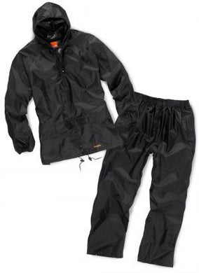 Scruffs Fully Waterproof Jacket & Over Trousers Black