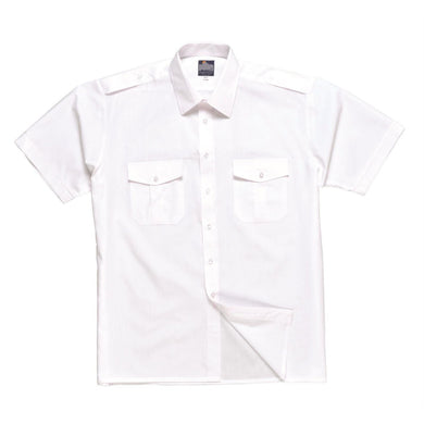 Portwest S101 Short Sleeved Pilot Shirt White