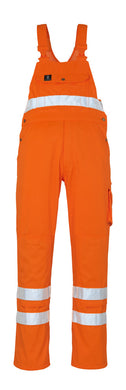 Mascot Maine NDA69 Hi Vis Bib & Brace Coveralls Orange