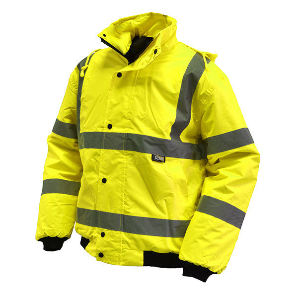 Scan Hi Vis Bomber Jacket Yellow XL