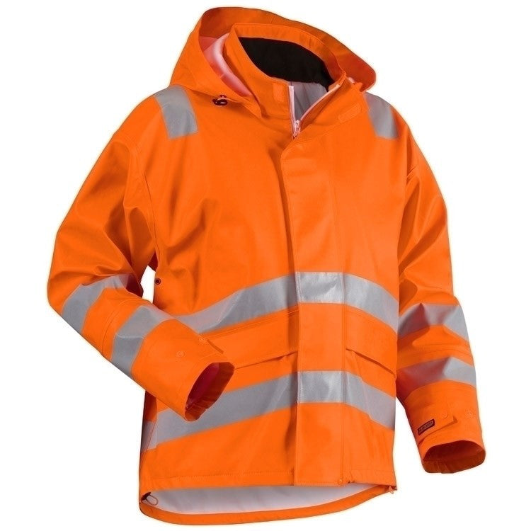 Blaklader 4302 Heavy Weight Hi Vis Rain Jacket Orange XXS
