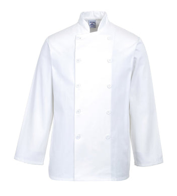Portwest Sussex Unisex Chefs Jacket White