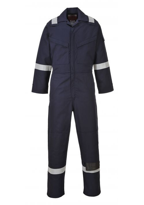 Portwest Bizflame FR50 Flame Resistant Anti Static Coverall Navy S