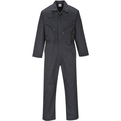 Portwest Liverpool C813 Zip Coverall Black