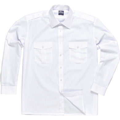 Portwest S102 Long Sleeved Pilot Shirt White