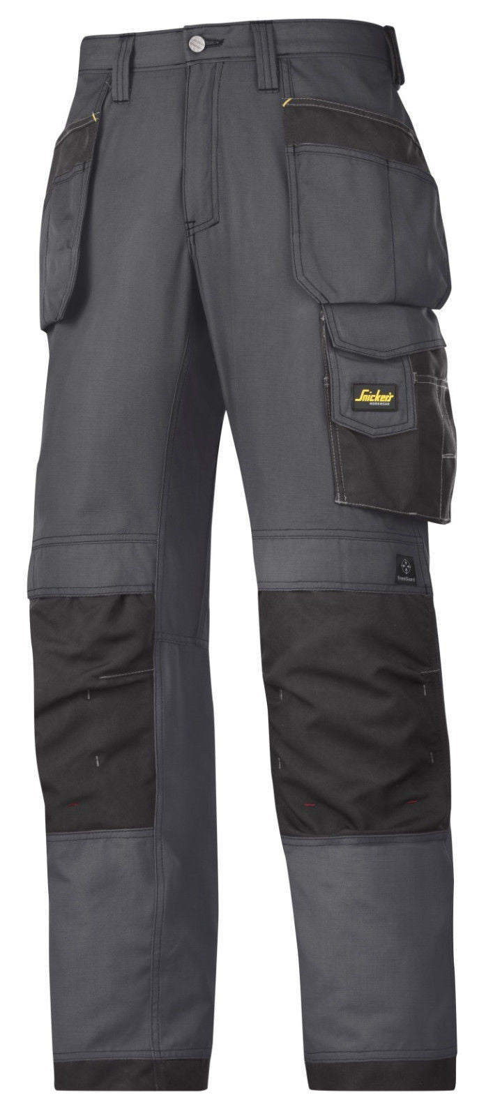 Snickers 3213 Craftsmen Holster Pocket Trousers Rip-Stop Black W35 L37