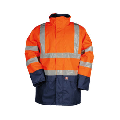 Sioen Marex 9464 Hi Vis Rain Jacket Orange L
