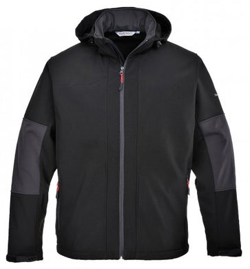 Portwest TK53 Hooded Softshell Jacket Black