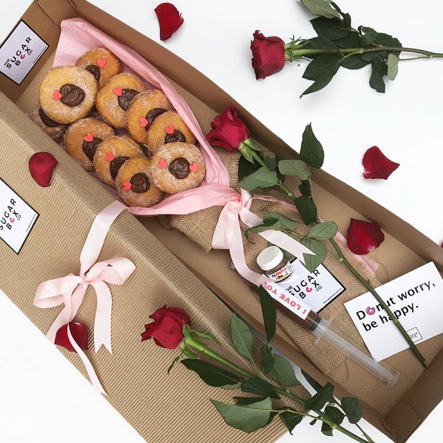 Donut Box Nutella Donut Bouquet Dessert Box