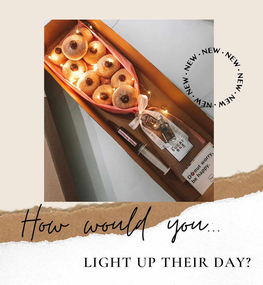 Light-Up My Day Donut Bouquet