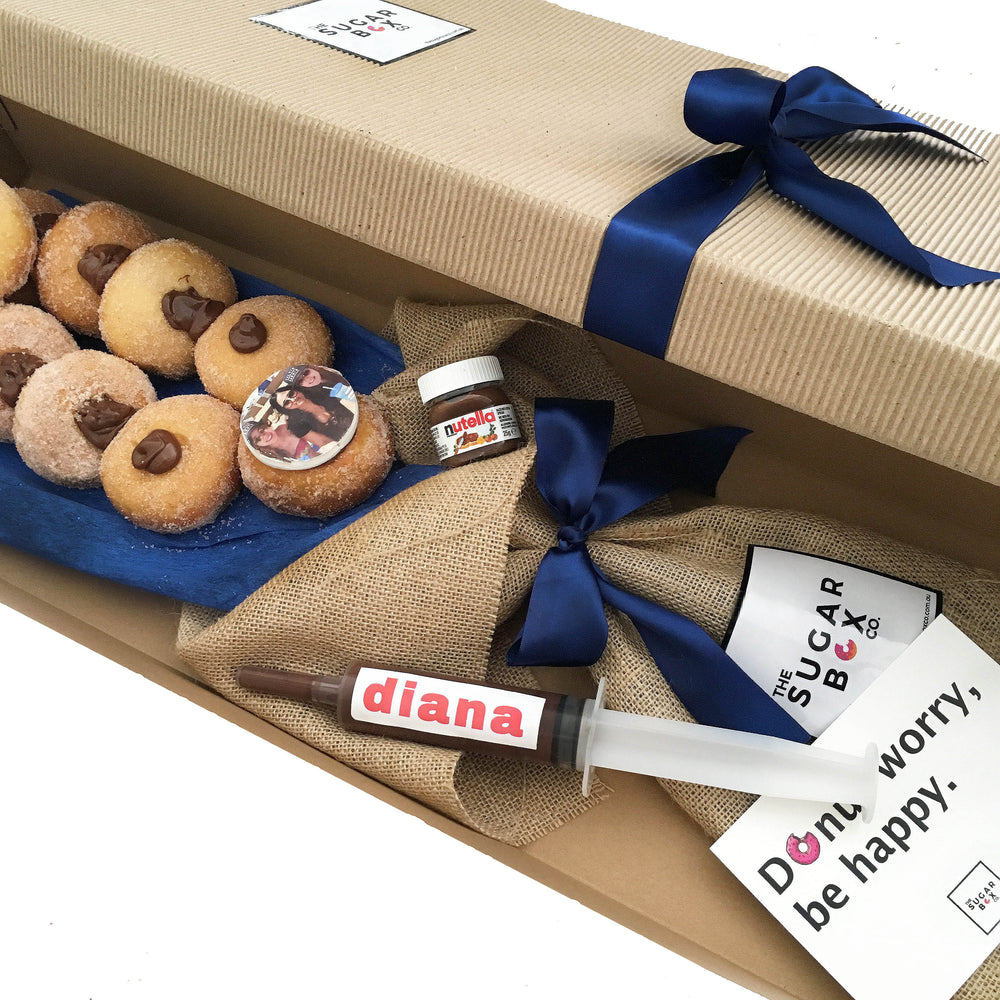 The Blue Tella Donut Bouquet - The Sugar Box Co.