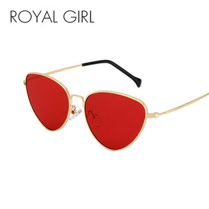 ROYAL GIRL Cat Eye Sunglasses Women 2017 Light Weight Summer Styles Retro Sun Glasses Fashion Red Lens UV400 Eyewear ss237