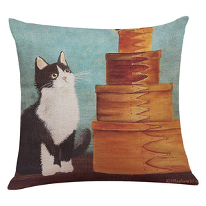 Cute Cat Sofa Bed Home Decoration Festival Pillow Case Cushion Cover