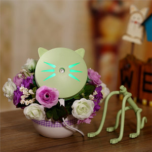 LED Night Light USB Charging Mini Ultrasonic Mist Aroma Humidifier Portable Air Purifier Humidifier Kitty Design